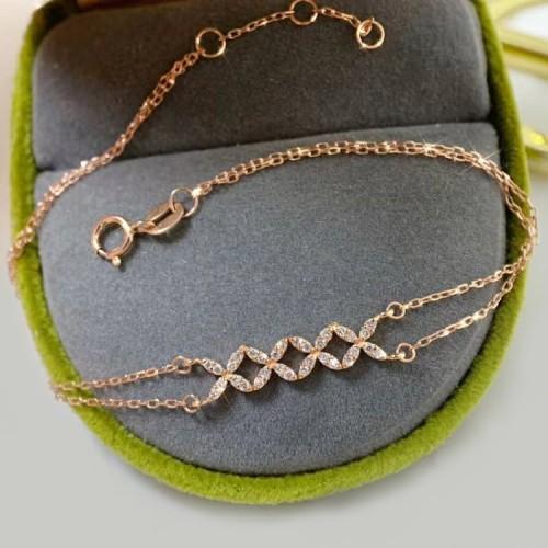 Marquise Shape Diamond Gold Bracelet SS4003