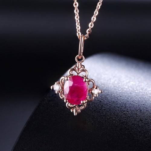 Ruby & Diamond Gold Vintage Necklace SS2001