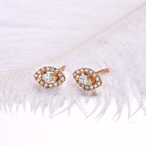 0.26 Carat Marquise Diamond Stud Earrings SS3007
