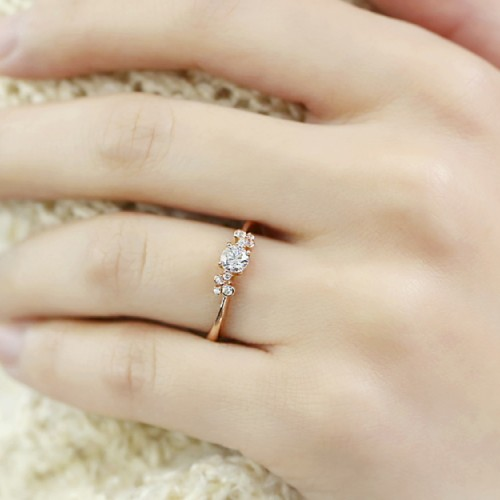 HRD Certificate Diamond Engagement Ring SS0087
