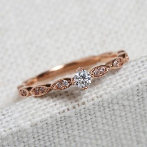 Vintage Diamond Ring HRD Certificate SS0084