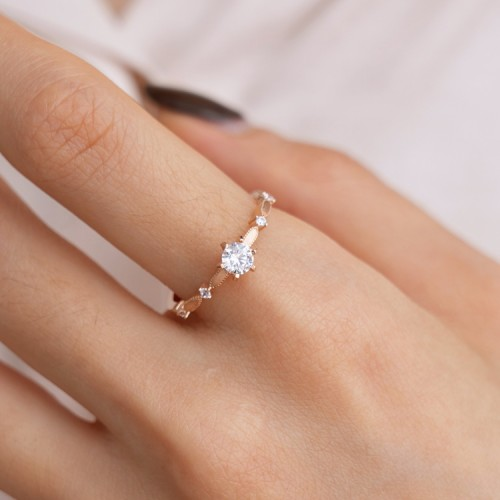 Vintage Style Engagement Diamond Ring SS0051
