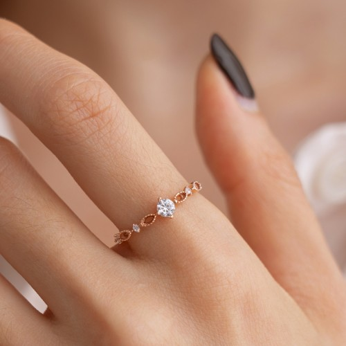 Vintage Style Engagement Diamond Ring SS0019