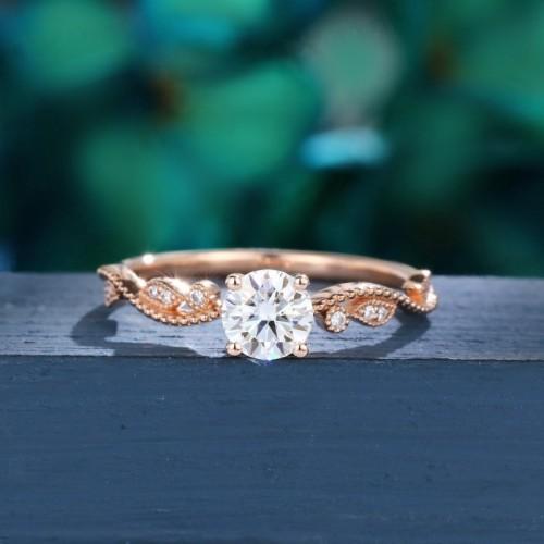 0.32 Carat Diamonds Vintage Leaf Ring SS0193
